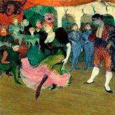 Jiekley Fine Art - Lukisan Marcelle Lender Dancing the Bolero in Chilperic Karya Henri de Toulouse-Lautrec - 1895-1896