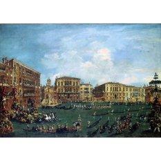 Jiekley Fine Art - Lukisan Regatta in Volta di Canal Karya Francesco Guardi - 1760-1770