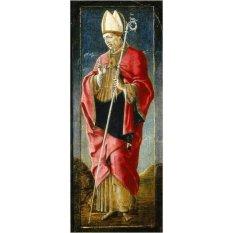 Jiekley Fine Art - Lukisan The Annunciation with Saint Francis and Saint Louis of Toulouse (Far Right Panel) Karya Cosmè Tura - 1470-1480