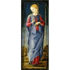 Jiekley Fine Art - Lukisan The Annunciation with Saint Francis and Saint Louis of Toulouse (Middle Right Panel) Karya Cosmè Tura - 1470-1480