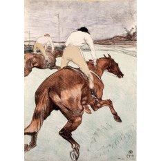 Jiekley Fine Art - Lukisan The Jockey Karya Henri de Toulouse Lautrec - 1899