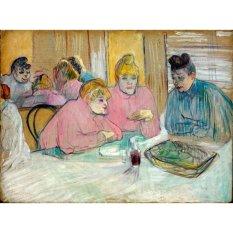 Jiekley Fine Art - Lukisan The Ladies in the Dining Room Karya Henri de Toulouse Lautrec - 1893-1895