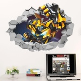 Beli Jingle 3D Bumblebee Transformers Decal Removable Break Wall Sticker Kids Room Decor Intl Murah Tiongkok