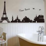 Diskon Produk Gemerincing Diseduh Sendiri Kota Paris Menara Eiffel Yang Dapat Dilepas Stiker Lukisan Dinding Kamar Tidur Stiker Dinding Hitam