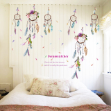 Gemerincing Bulu Dreamcatcher Windbell Wall Sticker Aneka Warna Jingle Diskon 50