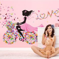 Beli Jingle Removable Diy Flower G*Rl Home Decor Wall Sticker Multicolor Secara Angsuran