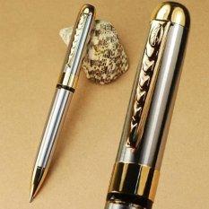 Toko Jinhao 250 Stainless Steel Twist Ballpoint Pen Perak Emas Oem Di Tiongkok