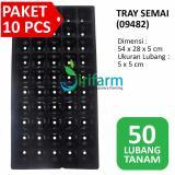 Review Jirifarm 10 Set Pot Tray Semai 50 Lubang Tanam
