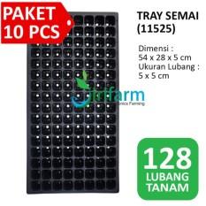 Jirifarm 10Pcs Tray Semai Bibit Pot 128 Lubang Ukuran 54 X 28 X 4 5 Cm Original