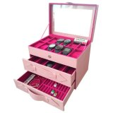 Dapatkan Segera Jogja Craft Baby Pink Watch Box Organizer For 12 Watches Mix Glasses And Accesories Drawer