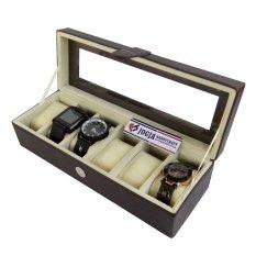 Jogja Craft BJ06BRWCR Kotak Tempat Jam Tangan Isi 6 [Coklat Cream]
