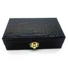 Jogja Craft Box Cincin Batu Akik Crocodile - Ring Box isi 15 – Hitam