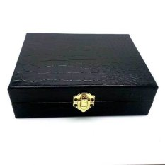 Jogja Craft Box Cincin Batu Akik Kaca Crocodile - Ring Box Isi 20 - Hitam