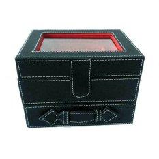 Jogja Craft Box Cincin Batu Akik Tingkat Kaca  - Hitam