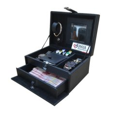 Jogja Craft Full Black Jewelry Box / Tempat Perhiasan / Kotak Perhiasan dan Accesories - Hitam