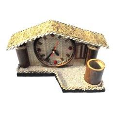 Jogja Craft Jam Batok Kelapa Bentuk Rumah - Natural