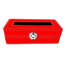 Jogja Craft Kotak Batu Akik / Box Cincin Batu Akik Kaca Jahit - Isi 10 Petak - Merah-Hitam