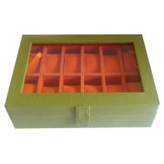 Jogja Craft Kotak Jam Tangan Isi 12 - Hijau Orange