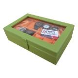 Toko Jogja Craft Kotak Tempat Jam Tangan Isi 12 Green Orange Lengkap Di Yogyakarta