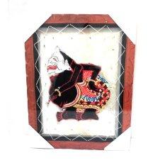 Jogja Craft Lukisan Wayang Kulit Semar Kulit Kambing  - Putih Kecoklatan