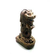 Jogja Craft Miniatur Patung Merlion Singapura - Coklat