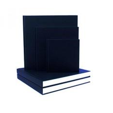 Jumbo-Platz Schwarzes Tuch Skizzenbuch-25x25 Cm-190 Seiten/95 Blatt. -140 GSM All-Media Zeichnung Papier, Säurefrei Und Groß Für Zusätzliche Nassfestigkeit-Intl