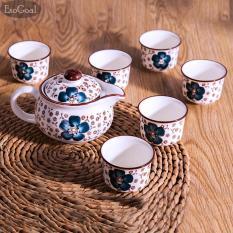 JvGood Tea Pot Teko 6 Cangkir Keramik Set Teh Tea Pot and Cups Set