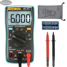 JvGood Digital Multimeter, Auto Volt Transistor Analyzer Amp meter Ranging Voltmeter 6000 Counts, Multi Volt Electrical Tester, Voltage Power Meter Tester Measuring AC/DC Voltage tester, HZ with Backlight LCD Display