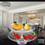 Jual Jvgood Piring Buah Acrylic Plate 2 Tier Untuk Buah Kue Desserts Candy Buffet Berdiri Untuk Rumah Party Dengan Free 50 Pcs Buah Garpu Jvgood Branded