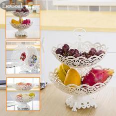 Harga Jvgood Piring Buah 2 Tier Hollow Plate Untuk Buah Kue Desserts Candy Buffet Stand Untuk Rumah Pesta Fullset Murah