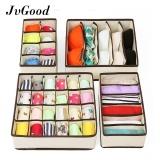 Jual Jvgood Organizer 4Pcs Bra Underwear Closet Socks Ties Storage Box Organizer Drawer Divider Set Jvgood Murah