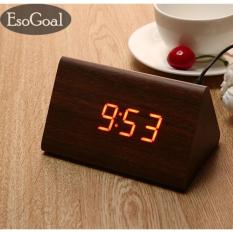 Toko Jvgood Power Multi Function Wooden Led Alarm Clock With Temperature Display Triple Intelligent Alarm Sound Control Screen Murah Tiongkok