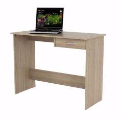 Review Jysk Meja Kantor Desk Karup 100X48X76Cm Sonoma Oak