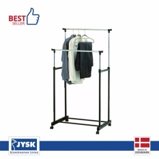 JYSK Rak Gantungan Baju - Clothes Rail Baxter Double With Shelf - Hitam