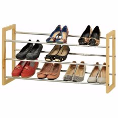 Jual Jysk Shoe Rack Extendable Eriksen 120X21X45Cm Metal Branded