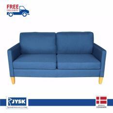 JYSK Sofa 2Seater Apus 165X81X84Cm Blue - Free Delivery Khusus Jakarta