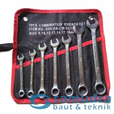 K55 KUNCI RING PAS SET 7 PCS UKURAN 8 - 19 MM COMBINATION WRENCH