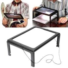 Kaca Pembesar Bentuk Meja dengan Lampu LED