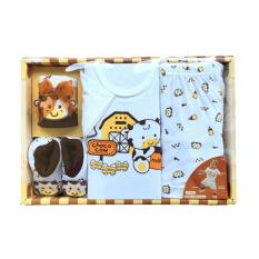 Jual Kado Bayi Set Box Baju Lengan Pendek Celana Pendek Topi Sepatu Baru