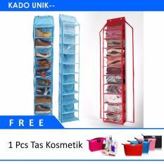 Kado Unik-- Rak Sepatu Susun Organizer + FREE Tas Kosmetik Bag Pouch Waterproof