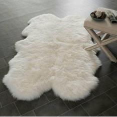 Harga Karpet Bulu Putih Korea Sheep Skin Rug Asli Karpet Bulu Putih Korea Gimbal