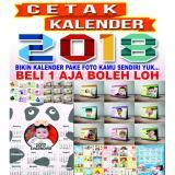 Cuci Gudang Kalender Duduk 2018 Pake Foto Sendiri 1 Bulan 1 Lembar