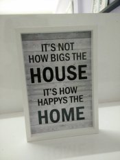 Review Tentang Hiasan Dinding Quote Its Not How Bigs The House Its How Happys The Home