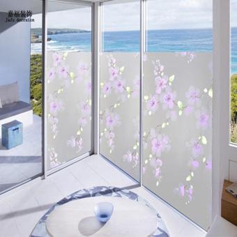 Kamar mandi balkon tembus buram buram kaca kertas kisi-kisi jendela kertas