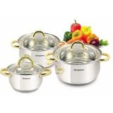 Harga Kangaroo Kg864 Cookware 3 Set Pegangan Emas Kangaroo Asli