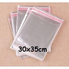 Kantong Plastik Opp Seal Lem Perekat Kemasan Baju Kaos Celana 30x35cm