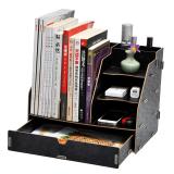 Ulasan Kantor Atas Meja Kotak Penyimpanan File Pesawat Menyelesaikan Sandaran Buku