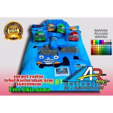 Ar_toys karpet karkater bulu karakter tayo bantal 2 guling 1