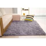 Harga Karpet Bulu 150X100Cm Cocok Untuk Keindahan Ruang Tamu Abu Abu Murah