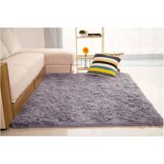 Promo Toko Karpet Bulu 150X100Cm Cocok Untuk Keindahan Ruang Tamu Abu Abu